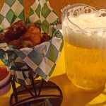 Basket of chicken and beer