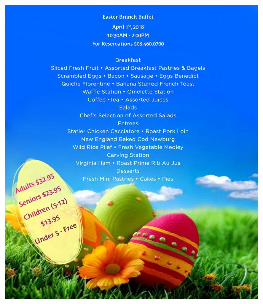 Easter Brunch Buffet Menu